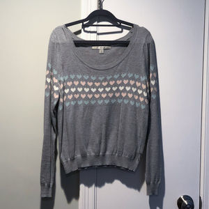 LC Lauren Conrad Heart Cropped Sweater